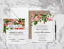 customize a floral wedding invitation for you