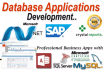 design database for you in Access, SQL or Oracle