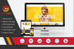 develop a fully responsive website with modern design