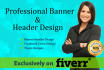 design professional banner or header for your website