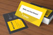 design a CREATIVE business card