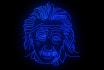 create a neon speed drawing of your face