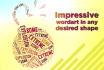 make 3 simple pieces of unique word art