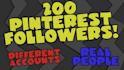give you 200 Real Pinterest Followers