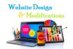 do website design and modifications