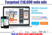 blast Your Solo Ads To Our Over 218,000 Targeted Niche Of Your Choice for 7days
