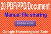 do PDF submission to 20 document sharing sites