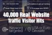 send 40000 usa real website traffic visitor hits