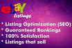 list 10 eBay products or optimize eBay listings