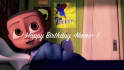 create a funny cloudy with a chance of meatball happy birthday video