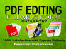 do any data entry, PDF work, create fill able pdf forms