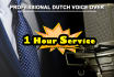 record Dutch Nederlandse voice over Also 1 hour service