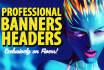 design a Professional Website Banner or Header
