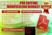 modify, edit, correct, renumber, protect, unlock your PDF file
