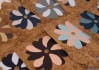 send 4 flower recycled wallpaper bookmarks or gift tags