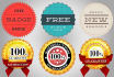 design all kinds of badges and guaranteed satisfaction stamp