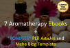 deliver 7 aromatherapy ebooks with plr and niche blog bonuses