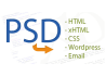 convert psd to html, email