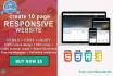 create an unique 10 page responsive website
