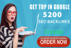 get you Top in Google with 5200 SEO backlinks