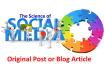 write an original blog post or article