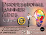 design 5 professional banners within 24 hrs