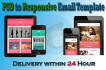 create responsive email  template and email newsletter