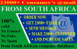deliver a list of 23800 customers email of South Africa