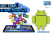 post up to 15 Reviews or 20 Ratings to your android App