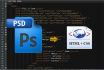 convert psd to html template