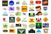 design 2 high quality vector logo for your blog website business