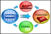 transcribe 10 minutes audio video super fast