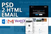 convert your PSD to html email newsletter