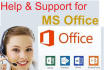 do Microsoft Office Help and Support