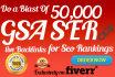 do a blast of 100,000 Verified GSA Ser live Backlinks for Seo Rankings