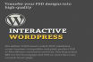 implement and design your new website using Wordpress in very low price