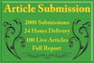 do 2000 Article Submission in 24 Hours