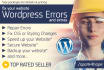 fix your Wordpress website ISSUES and Errors