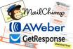 create integrate or fix Mailchimp Aweber GetResponse