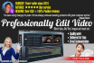 do professional hd video EDITING services