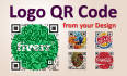 create Logo QR code with your Designs