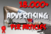 give you 18000 ADVERTISING Plr Article Collection Pack