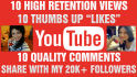 watch 10 YouTube videos, LIKE, comment, share 20K followers
