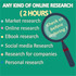 do market research, online research for 2 hours