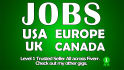 find USA uk job offer that fit your cv and send you the url