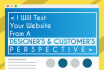 test your Website from a Designers and Customers view