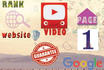 rank you FIRST in Google with Exclusive Seo, Backlinks for Website and Youtube