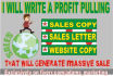 write powerful and persuasive SALES letter that sells