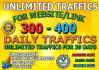 bring UNLIMITED  Real Genuine Website Traffic for 1 month