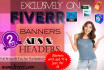 design a Professional web Banner,Header